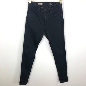 Ag Adriano Goldschmied Jeans - AG The Farrah Skinny High Rise Black 29R (Act 28W)